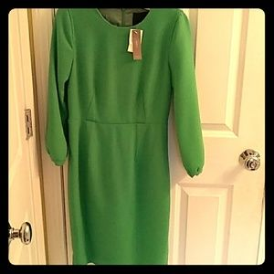 JCrew collection Kelly green dress